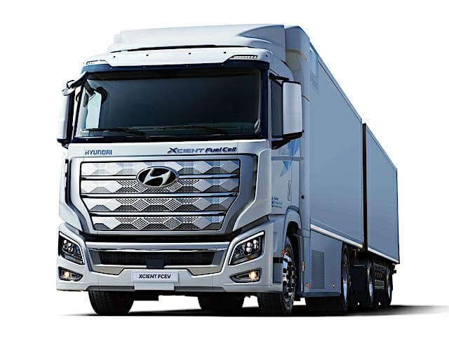 Les camions Hyundai hydrogène en Chine