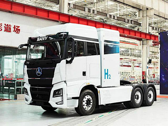 Sany hydrogene camion